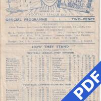 19481225 Official Programme Leicester City Home FC