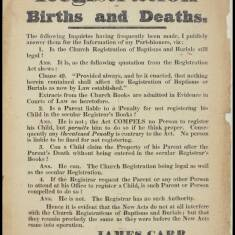 Registration of Births and Deaths