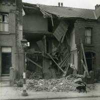 Worcester Road, bomb damage, Blitz