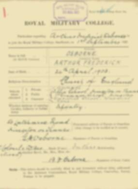 RMC Form 18A Personal Detail Sheets Feb & Sept 1922 Intake - page 110