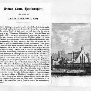 Sufton Court, Mordiford, Herefordshire, article