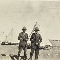 Henry Wade (right) and Fellow SHMB Field Ambulance Officer