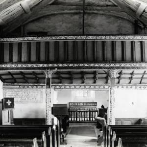 St Margarets Church, St Margarets, Herefordshire, interior 1899