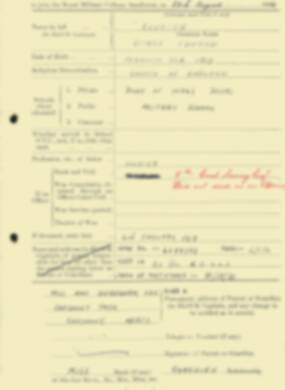RMC Form 18A Personal Detail Sheets Aug 1934 Intake - page 32