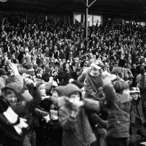 Fans watching Hereford United v Newcastle, Feb 1972.