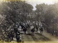 The German Emperor riding up to Wimbledon Common to review volunteers,  11th July 1891