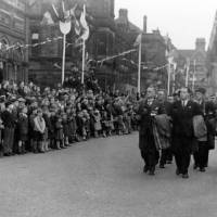 Civilian Defence Workers at the Bootle Victory Parade in 1945