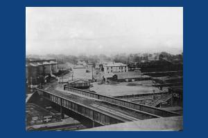 Wimbledon bridge and the local station