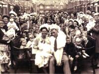 V E Day party in Meadow Road, Merton, May 1945