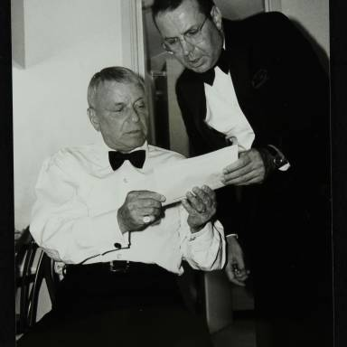 Frank Sinatra and Frank Sinatra Jr (left to right)