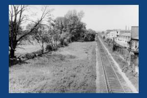 Bunces Meadow, Merton: Showing factories on Deer Park Road & Wimbledon to West Croydon Rail Line