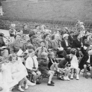 Grenoside Junior and Infant School  spectators 1950's 02.