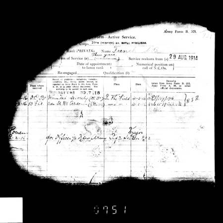 Service Record - Cecil Berkeley French