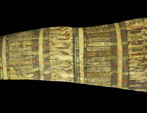 Unique Wooden Coffin Panel, 25th Dynasty, 750-600 BC