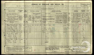 1911 Census - 106 Haydons Road, South Wimbledon