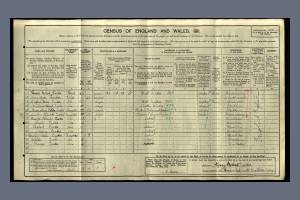 1911 Census - 106 Haydons Road, South Wimbledon