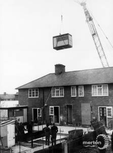 St. Helier  Estate, Morden,  bathrooms over the rooftops