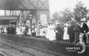 Waiting at Mitcham Junction for the special train to Brighton