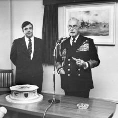 Admiral of the Fleet, Earl Mountbatten of Burma visits South Tyneside.