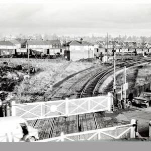 Railway sidings from Burcott Road, Hereford, c.1969