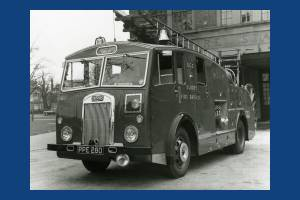 Biggest fire engine of Mitcham Fire Station