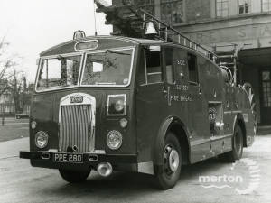 Biggest fire engine of Mitcham Fire Station