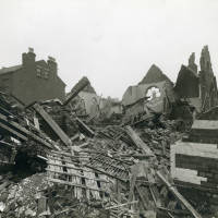 Welsh Church, bomb damage, Blitz