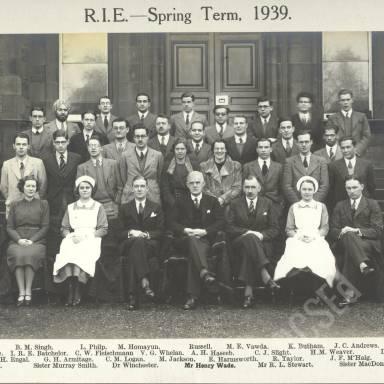 RIE Spring Term, 1939