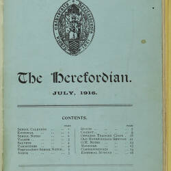 The Herefordian No 82_July 1916
