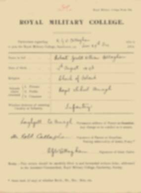 RMC Form 18A Personal Detail Sheets Jan 1915 Intake - page 59