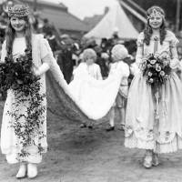 Bootle May Day Queen and retinue,  c1926