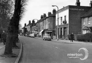 Church Road, The Bull Pub and shops, Mitcham