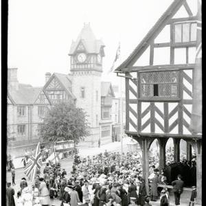 Empire Day, Market House, High Street, Ledbury, May 1916