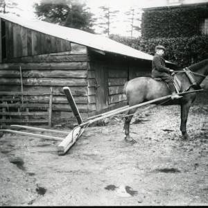 G36-013-04 Boy on horse in farmyard drawing farm implement.jpg