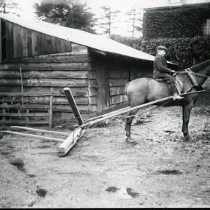 G36-013-04 Boy on horse in farmyard drawing farm implement.jpg