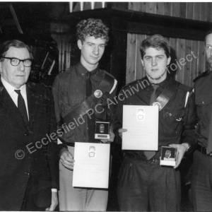 Burncross Methodist Church Boys Brigade 1st Queens Badge Awards 6th March 1987