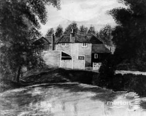 Lodge Farm, taken from an original watercolour