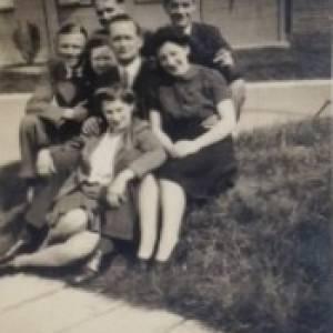 Dorothy Knight (nee Sparrow) - group photo