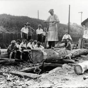 Woodworking, Pontrilas Sawpit, 1933