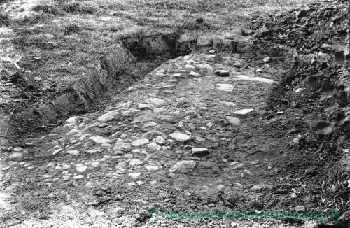 Abbey Dore, Herefordshire, stone roadway