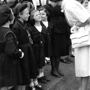 Princess Alexandra meeting Brownies