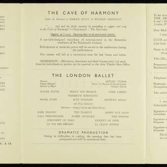 Arts Theatre Club, London, April 1940