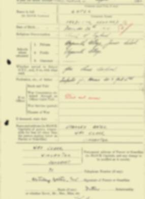 RMC Form 18A Personal Detail Sheets Aug 1934 Intake - page 73