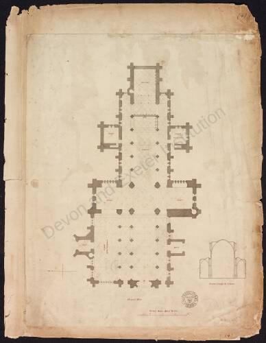 Ground plan of Ottery St Mary Church