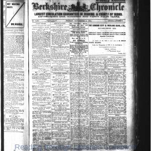 Berkshire Chronicle Reading 11-1914