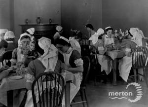Nursing staff pictured in the canteen at Nelson Hospital