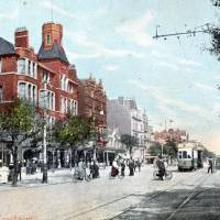 Southport Lord Street, people, electric tram