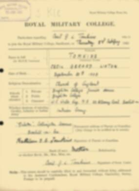 RMC Form 18A Personal Detail Sheets Feb & Sept 1922 Intake - page 140