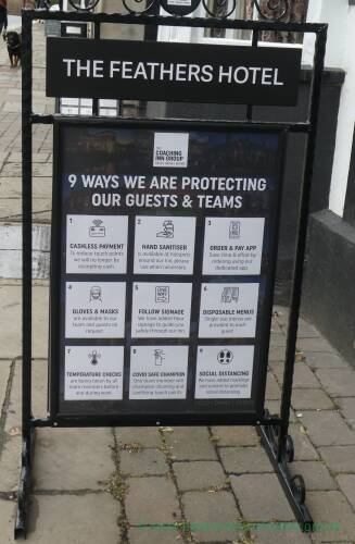 Protecting customers at the Feathers hotel, Ledbury
