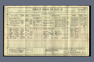 1911 Census - 9 Meadow Road, Merton